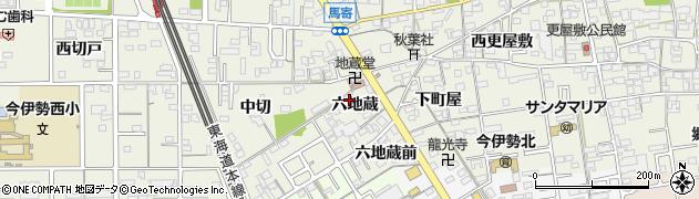 愛知県一宮市今伊勢町馬寄(六地蔵)周辺の地図