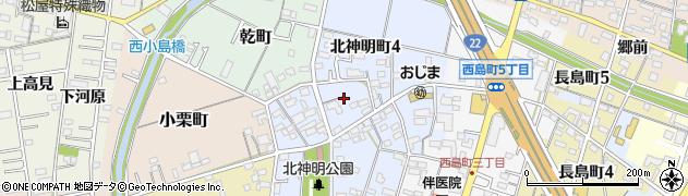 愛知県一宮市一宮(神明北)周辺の地図