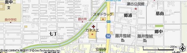 愛知県一宮市奥町(田畑)周辺の地図