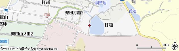 愛知県犬山市打越周辺の地図