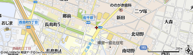 愛知県一宮市佐千原(古川)周辺の地図