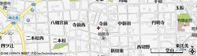 愛知県一宮市時之島(寺前)周辺の地図