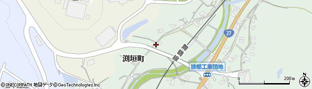 京都府綾部市渕垣町(小白)周辺の地図