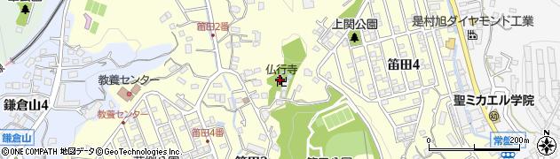 仏行寺周辺の地図