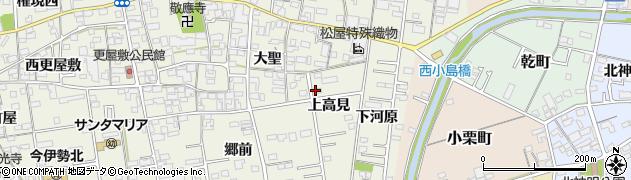 愛知県一宮市今伊勢町馬寄(上高見)周辺の地図