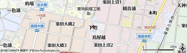 愛知県犬山市下沼周辺の地図
