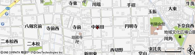 愛知県一宮市時之島(中新田)周辺の地図