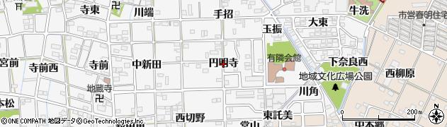 愛知県一宮市時之島(円明寺)周辺の地図