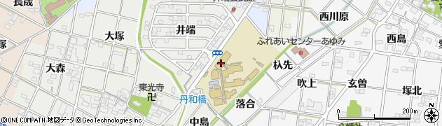 愛知県一宮市丹羽(中山)周辺の地図