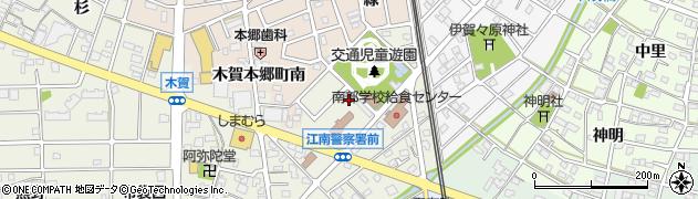 愛知県江南市木賀町(大門)周辺の地図