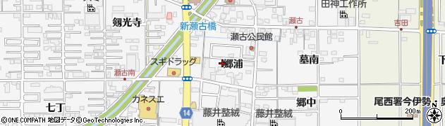 愛知県一宮市奥町(郷浦)周辺の地図