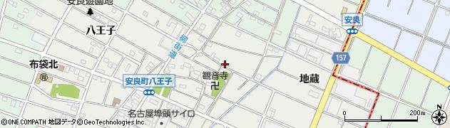 愛知県江南市安良町(上郷)周辺の地図