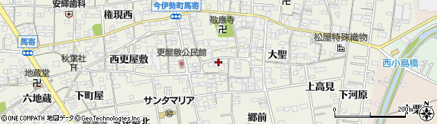 愛知県一宮市今伊勢町馬寄(東更屋敷)周辺の地図