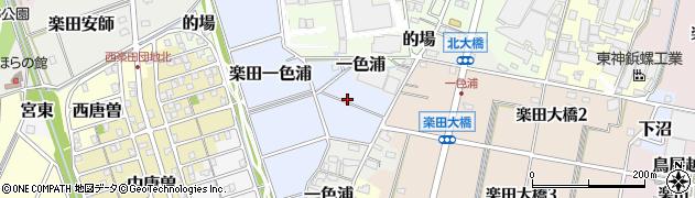愛知県犬山市楽田一色浦周辺の地図