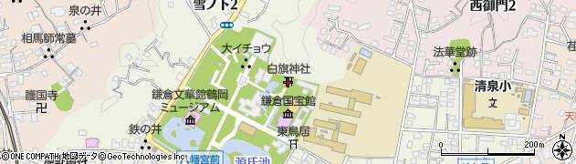 白旗神社周辺の地図