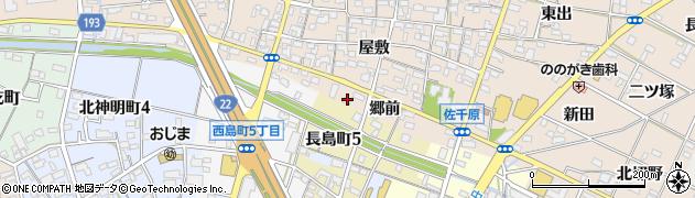 愛知県一宮市佐千原(郷前)周辺の地図