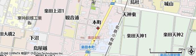 愛知県犬山市本町周辺の地図
