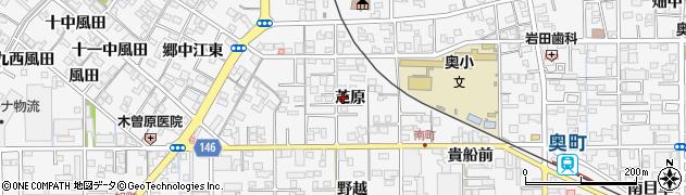 愛知県一宮市奥町(芝原)周辺の地図