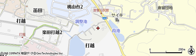 愛知県犬山市笛田周辺の地図