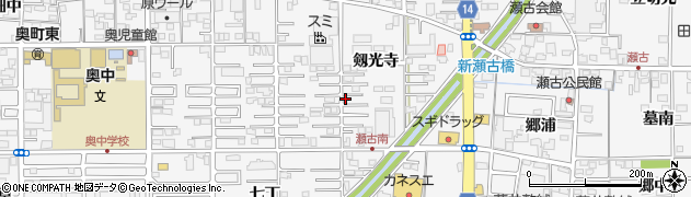 愛知県一宮市奥町(剱光寺)周辺の地図