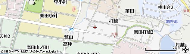愛知県犬山市楽田打越周辺の地図
