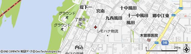 愛知県一宮市奥町(宮南)周辺の地図