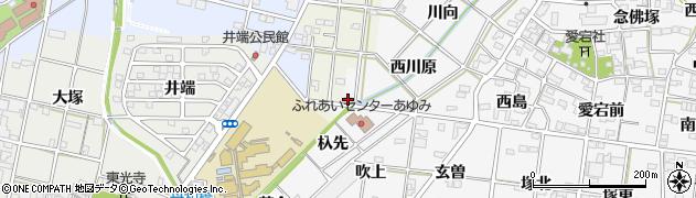 愛知県一宮市時之島(西川原)周辺の地図