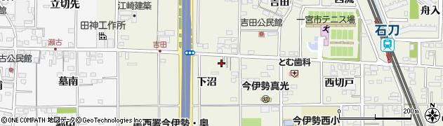 愛知県一宮市今伊勢町馬寄(下沼)周辺の地図