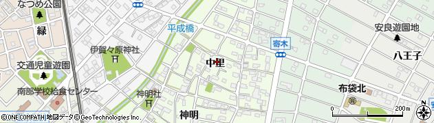 愛知県江南市大海道町周辺の地図