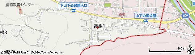 神奈川県平塚市高根周辺の地図
