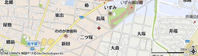 愛知県一宮市佐千原(長筬)周辺の地図