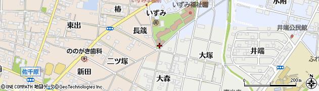 愛知県一宮市浅井町西浅井(弐軒家)周辺の地図