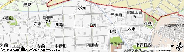 愛知県一宮市時之島(手招)周辺の地図