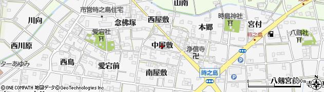 愛知県一宮市時之島(中屋敷)周辺の地図