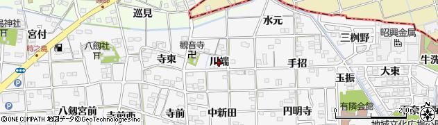 愛知県一宮市時之島(川端)周辺の地図