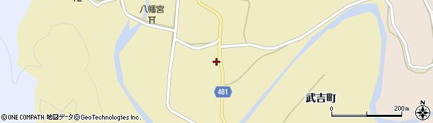 京都府綾部市武吉町周辺の地図