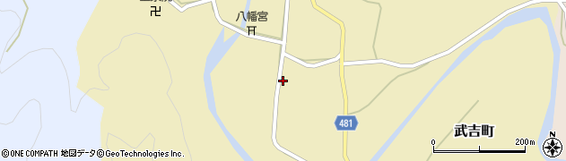 京都府綾部市武吉町(浦入)周辺の地図