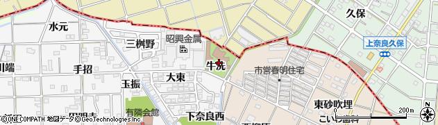 愛知県一宮市時之島(牛洗)周辺の地図