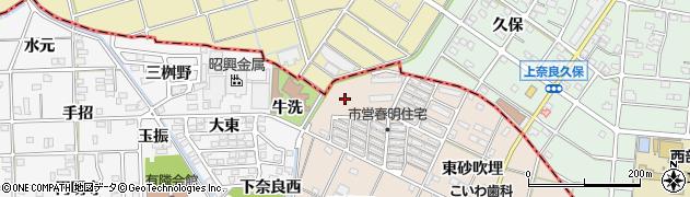 愛知県一宮市春明(南砂吹埋)周辺の地図