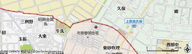 愛知県一宮市春明(西砂吹埋)周辺の地図