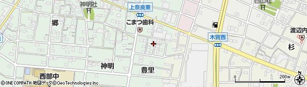 愛知県江南市上奈良町(豊里)周辺の地図