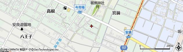 愛知県江南市今市場町(宮前)周辺の地図