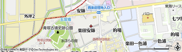 愛知県犬山市楽田安師周辺の地図
