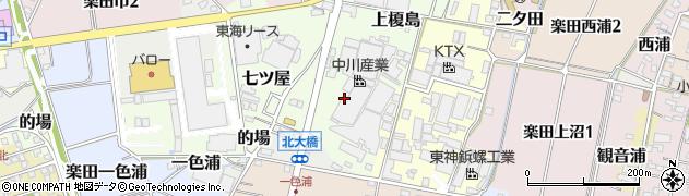 愛知県犬山市土取周辺の地図