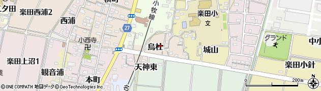 愛知県犬山市烏杜周辺の地図