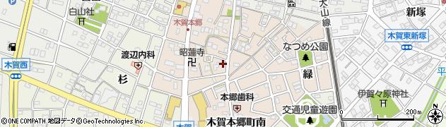 愛知県江南市木賀本郷町周辺の地図