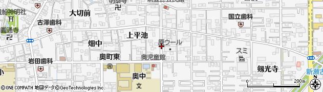 愛知県一宮市奥町周辺の地図