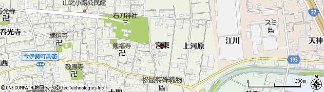 愛知県一宮市今伊勢町馬寄(宮東)周辺の地図