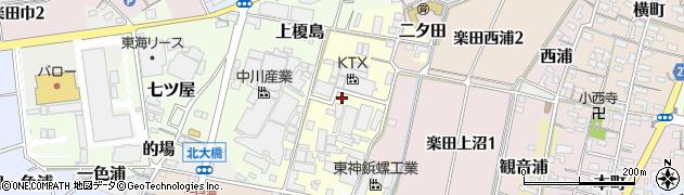 愛知県犬山市下榎島周辺の地図