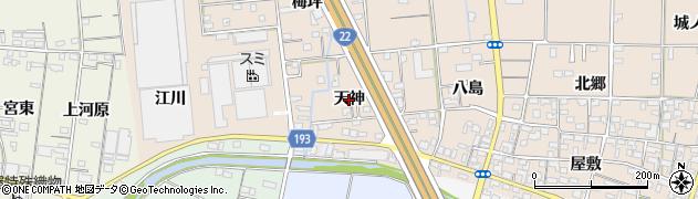 愛知県一宮市佐千原(天神)周辺の地図